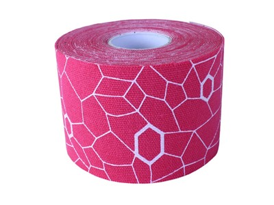 TheraBand Kinesiology tape pink/hvid ca. 25cm (20)