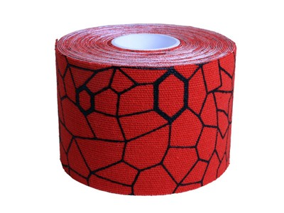 TheraBand Kinesiology tape rød/sort ca. 25cm (20)