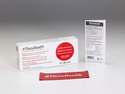 TheraBand Loops 7,5-20,5 cm Rød