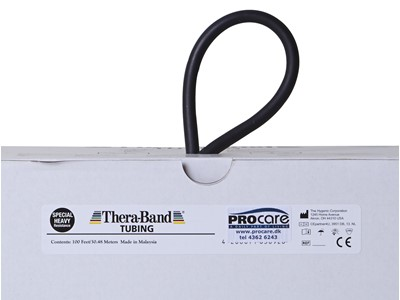 TheraBand Tubing 30,5 m Sort