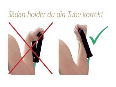 TheraBand Body Trainer sort hård modst.