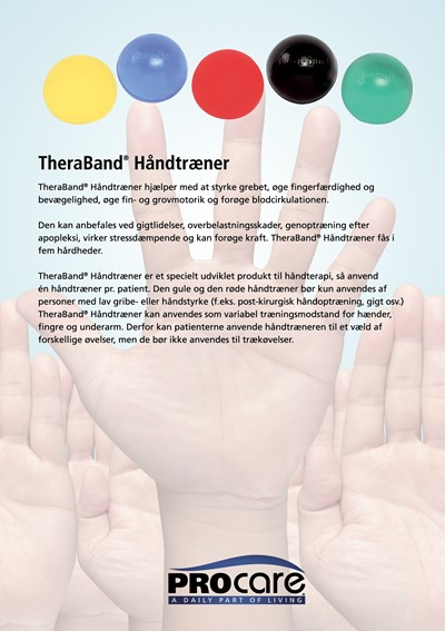 TheraBand Hand Exerciser Rød
