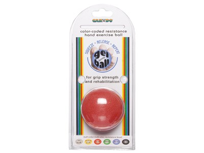 CanDo Hand Exercise Ball Red (3:6)