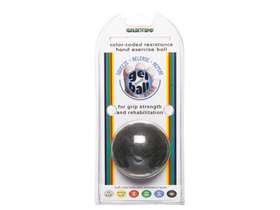 CanDo Hand Exercise Ball Black (6:6)