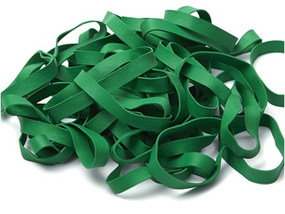 Colored rubber bands 9,5 mm Green