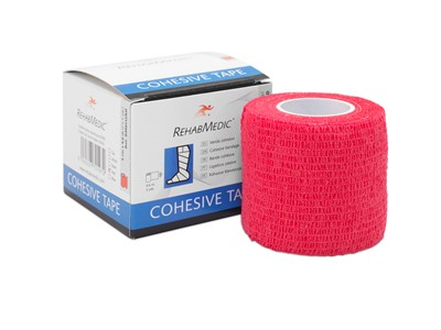 Cohesive Tape 5cm x4,6m Red (1)